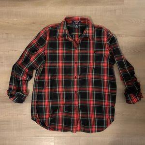 EUC Chaps Tartan Plaid Button-down shirt | Small